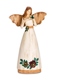 """Friends are gifts from heaven. This Angel in holding a butterfly to remind us of the beauty of friendship. Angel Includes gift box and card with the above inspirational phrase. Features - 9"""" tall ange"""