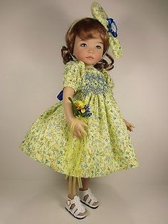 OOAK Hand Smocked Outfit Made Especially for 13 034 Little Darling Dolls by Jevne | eBay. Ended 10/12/14.