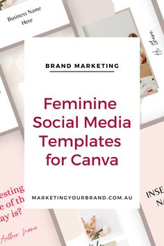 302 Modern Femme Social Media Templates for Canva, Marketingyourbrand.com.au | This sophisticated template pack will help you stand out from the crowd, and become instantly recognizable through your classy, and curated branded posts. Create brand consistency, have confidence & feel proud of your posts, and save yourself HOURS in trying to create cohesively designed social media collateral across different platforms #socialmediatips #instagramtemplates #businessgrowthtips #socialmedia…