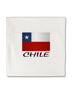 "Chile Flag Micro Fleece 14""x14"" Pillow Sham"