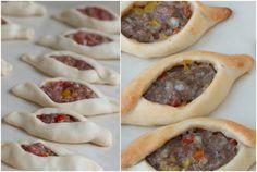 Beef & Lamb Fatayer (Fataa'ir) Chaussons au Boeuf et a l'Agneau فطائر باللحم   Xawaash.com