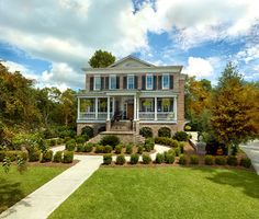 Custom Traditional Elevated Brick Home - traditional - exterior - charleston - Suiter Construction Company, Inc.