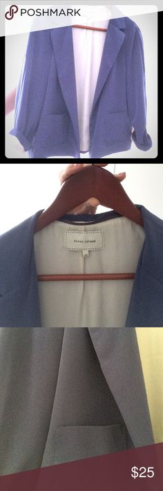 Cute Blazer by River Island Silly periwinkle blazer by River.Island. Gently used, has lived with cats. Open to offers, discounts for bundling. River Island Jackets & Coats Blazers