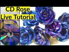DVD Rose making full steps live tutorial / DVD Recycling /Best out of wa. Recycled Cd Crafts, Old Cd Crafts, Diy Crafts Hacks, Diy Arts And Crafts, Diy Craft Projects, Craft Tutorials, Fun Crafts, Paper Crafts, Recycled Glass