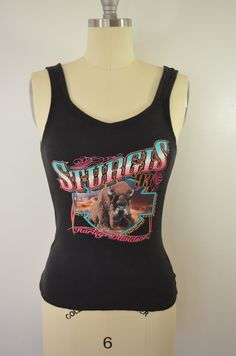 d12a4eb2cb4c2 Vintage HARLEY DAVIDSON Motorcycles Sturgis 1993 lady sext tank top usa made  large