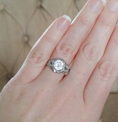 White Sapphire Branch and Nest Diamond Engagement by PenelliBelle