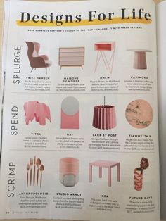 Light Peachblossom & Carmine Twin Tone Lampshade in Stylist magazine's interior supplement. Rose Quartz