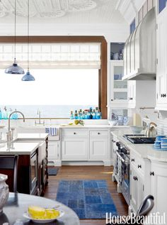 A Lake Michigan House With Exotic Allure and the most stunning view from the kitchen.