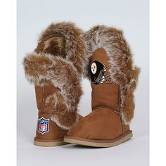 Women's Cuce Shoes Pittsburgh Steelers Fanatic Boots - NFLShop.com