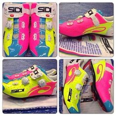 Cycling shoes.  These are so cute!  I just wish I could get the hang of clipping onto the pedal!!