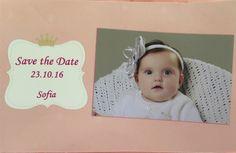 Save the date para a festa de 1º aninho  da Sofia