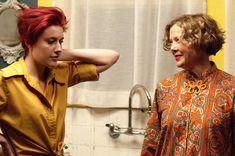 """""""20th Century Women"""" movie still, 2016.  L to R: Greta Gerwig, Annette Bening."""