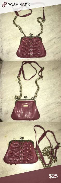 4ca661b786539 ❗️SALE❗️Jessica Simpson Crossbody Purse Jessica Simpson Burgundy Crossbody  bag in like new condition