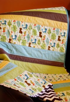 **********FOR ZACH'S BABY***************Straight Line Baby Quilt Patterns | FaveQuilts.com*******************