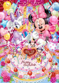 Tenyo Japan Jigsaw Puzzle (D-500-455) Disney Minnie & Daisy Happy Birthday (500 Pieces)