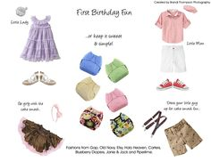 First Birthday What to Wear for Spring and Summer