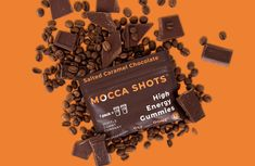 Mocca Shots Salted Caramel Chocolate Caffeine Gummy 12-pack - Coffee vs Tea Salted Caramel Chocolate, Chocolate Caramels, Coffee Vs Tea, Coffee Works, Mocca, Premium Coffee, Vitamin B Complex, Natural Energy, Organic Coconut Oil