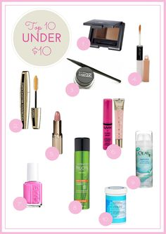 She Dreams In Gold// Beauty on a Budget: Top 10 Under $10 Beauty Products