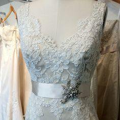 Beautiful Alencon lace gown Victoria Nicole Bridal Couture