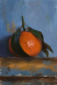 A clementine on my easel - Click anywhere outside of the image to close