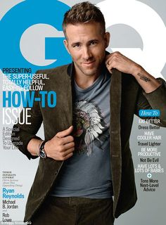Proud pop: Ryan Reynolds appears on the cover of the latest issue of GQ; inside, he opens up about life with his eight-month-old daughter, James