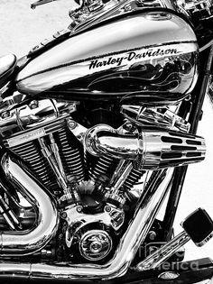 Harley Davidson Framed Prints - Harley Monochrome Framed Print by Tim Gainey Motos Harley Davidson, Harley Davidson Frames, Harley Davidson Wallpaper, Custom Baggers, Moto Custom, Harley Bikes, Custom Cycles, Custom Bikes, Hot Bikes