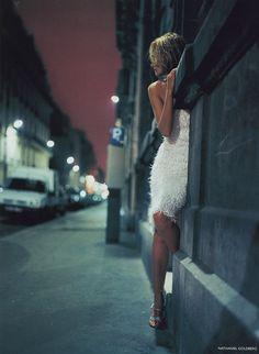 """Night Life"", Vogue UK, May 1999 | Photographer: Nathaniel Goldberg | Model: Amber Valletta"
