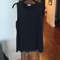 Beaded l'agence top Stunning 100% silk beaded navy top L'AGENCE Tops