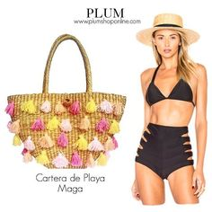 Carteras de moda y cuero para mujeres en PLUMSHOPONLINE.COM Leather and fashion womens handbags #bags #bag #moda #clutch #outfit - Cartera de playa Maga