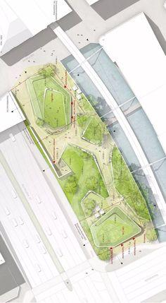 Architecture Graphics, Architecture Drawings, Landscape Architecture, Landscape Design, Architecture Design, Architecture Board, Masterplan, Playground Design, Site Plans