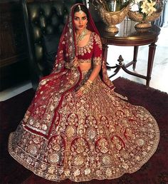 The main highlight of a wedding is the couple and also the bridal lehenga! So, choose from these amazing designer lehengas and look stunning! Designer Bridal Lehenga, Indian Bridal Lehenga, Indian Bridal Outfits, Indian Bridal Fashion, Indian Bridal Wear, Pakistani Bridal, Indian Dresses, Bridal Dresses, Lehenga Choli