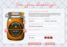 Make your own jam labels! Free!    I could see this being used for other homemade goodies, as well.