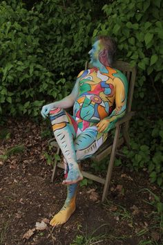 "Body painting ""Bunter Mann"", 2018 Fotoshooting: Anne Benz"