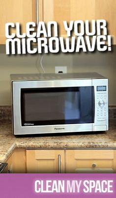 The easiest way to clean a microwave and a great way to prevent microwave splatters!  Use a lemon and water to 'steam' the inside of a microwave, then wipe clean.  So easy!  To prevent splatters, just place a dish of the same size over the item you are heating up and you'll never see a splatter again.  So easy!