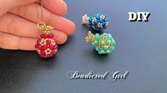 Jewelry Making Tutorials, Beading Tutorials, Beaded Flowers, Projects To Try, Channel, Stud Earrings, Beads, Pendant, Youtube