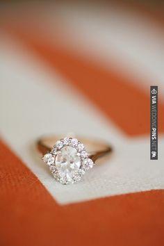 Late 1700s Georgian Rose Cut Diamond Cluster Ring.   VIA #WEDDINGPINS.NET