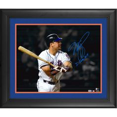 "Mike Piazza New York Mets Fanatics Authentic Framed Autographed 16"" x 20"" September 21, 2001 Home Run Spotlight Photograph with I Love NY Inscription"