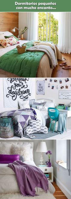 Ideas para habitaciones pequeñas. Dormitorios pequeños. Decoración de habitaciones pequeñas. #decoracioninterior #decoracion