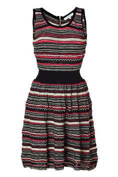 striped knit dress by sandro