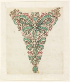 "Drawing, ""Design for a Stomacher"", 1725–50"