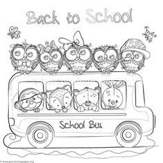 Zoo Animals School Bus Coloring Pages Animal Coloring Pages, Coloring Pages To Print, Free Coloring Pages, Coloring Books, Free Christmas Coloring Pages, School Decorations, Color Activities, Zoo Animals, Christmas Colors