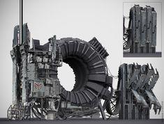 Killzone concept art by Karakter Concept Art Tutorial, Game Concept Art, Spaceship Interior, Sci Fi Environment, Environment Design, Modelos 3d, Mechanical Design, Fandom, Sci Fi Fantasy