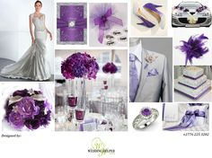 Our stunning Silve and Purple #inspiration #board just for you ladies  we hope you like it! Its chic, clean and its in for 2014!