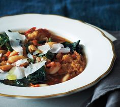 This vegetable-packed zuppa is a perfect way to use day-old bread. Recipe by Brandon Jew, Bar Agricole, San Francisco Italian Vegetable Stew Italian Vegetable Soup, Italian Vegetables, Vegetable Stew, Vegetable Bread, Bean Soup Recipes, Vegetarian Recipes, Cooking Recipes, Epicurious Recipes, Slow Cooking