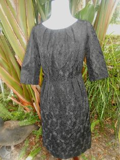 50s 60s vintage STARLET Mod GLAM GIRL DREAMY Movie Star little black Dress Small