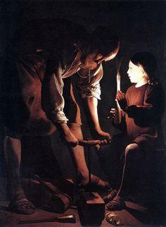 Saint Joseph Charpentier by Georges de La Tour