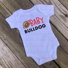 Bulldogs Football, Football Shirts, Georgia Shirt, Clipart Design, Making Shirts, Silhouette Studio, Onesies, Jackson, Cricut