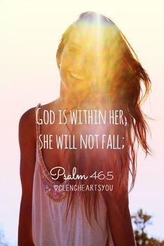 God is within her, she will no fail!