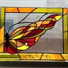 Stained glass butterfly by Anna Dewell