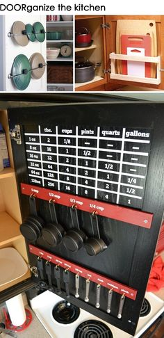 Great idea for measuring cups..  I'm always missing those!